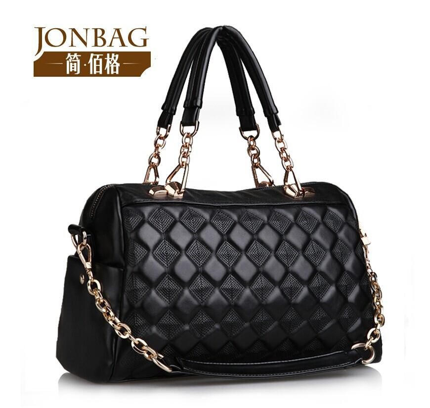 hot sale new 2014 women handbag chain dimond plaid women messenger bags shoulder bag women bag purses(China (Mainland))