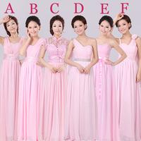 Chiffon Long Dress Bridesmaid Dress Party Wedding Prom Gown Wholesale HF010 , can Custom Made (Zipper back) HL5