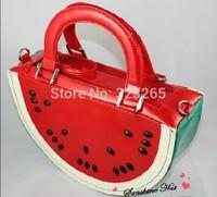 free shipping Watermelon modeling handbags, fashion brand diagonal package, shoulder bag,New spring and summer handbags