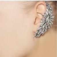 Stunning gold and silver  Crystal  Ear Cuff Punk Emo Goth Celebs Style ear cuff