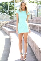 New 2014 Summer Chic Elegant  Women Party Dress Casual Mini dress Desigual Design Vestidos