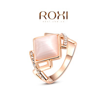 Roxi Fashion Royal Women's Jewelry High Quality Luxury Ring Rose Gold Plated Top Rich Austrian Crystals(China (Mainland))