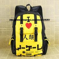 no game no life Schoolbag backpack computer bag