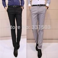 Hot Fashion Men's business clothing 2014 New  Men Pants Autumn M - XXXL Plus Size Pockets Korean Style social mens dress pants