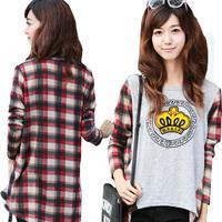 new autumn fashion casual female female T shirt loose long-sleeved T-shirt Women T-shirt