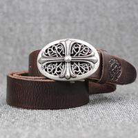 2014 Designer Cinto Belt 5 Color Choose,Vintage Style High Quality Belts For Men/Women Natural Cowhide Belts Luxury Belt buckle