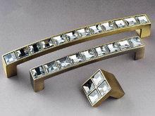 Искра стекло ящике комода ручки тянет из бронзы / блестящий ясно кристалл кухонная мебель кабинет ручки тянуть ручки