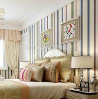 Modern & Minimalism color striped wallpaper for Livingroom_Bedroom