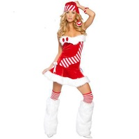 Christmas costumes with Socks Christmas dress uniform dress Christmas party dress DS RPG Freeshipping