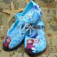 Momo - Wholesale Frozen Girls Shoes 2014 Popular Frozen Anna and Elsa Shoes Flat Shoes Children Princess Shoes 6pairs/lot