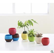 Gardening Mini Plastic Flower Pots Vase Square Flower Bonsai Planter Nursery Pots /flower pots planters/garden pots 10pcs/lot(China (Mainland))