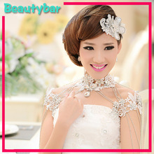 Bridal Lace Necklace Chain Shoulder Shawl Wedding Wholesale Crystal Shoulder Marriage Jewelry Accessory