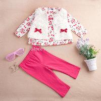 2014 Autumn newborn floral baby clothing sets roupas de bebe carters baby girl clothes 3pcs/set shirt +pant+vest