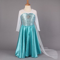 2014 new luxury Cospaly clothes  princess dress Costume kids girls Dress party dresses Shiny Sequined Cloak