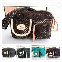 Polka Dot cloth factory direct Shoulder Messenger bag ladies handbags Korean hit color explosion models Hot