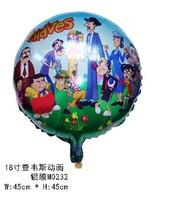 wholesale 50pcs/lot 45*45cm chavez foil balloon cartoon helium ballons ,birthday party supplies free shipping