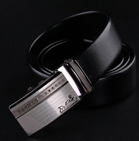 2014 Men Brand Genuine Leather Cowskin Belt Alloy Steel Buckle Automatic Belts for Man Causal QY333