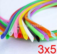 3mm ID 5mm OD 3X5 colours Silicone Rubber Tube Hose ( food grade ) flexible white blue black red yellow purple orange green