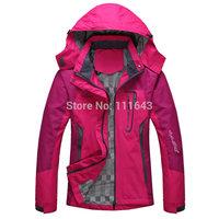 2015 New Outdoor women Waterproof jackets & Coats Windbreaker Softshell Woman Camping & Hiking Jacket Spring and Autumn Coat