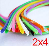 2mm ID 4mm OD 2X4 colours Silicone Rubber Tube Hose ( food grade ) flexible white blue black red yellow purple orange green