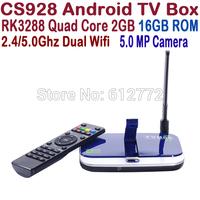 New CS928 RK3288 Android TV Box Quad Core 2GB/16GB 5.0MP Camera Bluetooth Wifi 4K*2K Smart Media Player TV Receiver XBMC TV Box