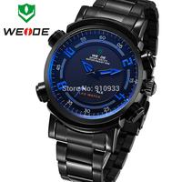 WEIDE Men Fashion Illuminated Analog Digital Dual Time Display Wristwatch Multi-purpose Men Sports Watch 3ATM Waterproof/WH1101