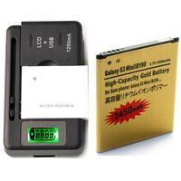 High Capacity Battery EB425161LU &Charger For Samsung Galaxy S3 Mini GT-I8190 2450 mAh