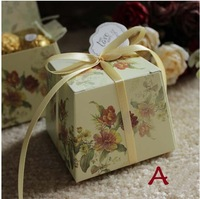Hot Sale 2014 Wedding Gift Boxes New 100pcs/lot Wedding Candy Boxes  Trapezoidal Favors Boxes  7 style