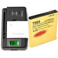 High Capacity Battery EB-L1D7IBA &Charger For Samsung i515 L700 I547 T989 i727 2450 mAh