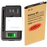 High Capacity Battery EB-BG900BBC &Charger For Samsung Galaxy S5 SM-G900F 4200 mAh