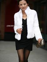 Stitching Faux Fox Fur Coat Short Outwear Women Jackets Turn Down Fashion Luxuary Solid Coats Female Fur Clothing FUR-310390