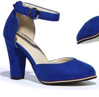 2014 women Fashion Sandals ultra high heels thick heel buckle low fashion sandals 3 colors women summer shoe