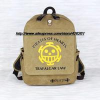 One Piece Trafalgar Law Luffy Canvas bag backpack computer bag travel School bag