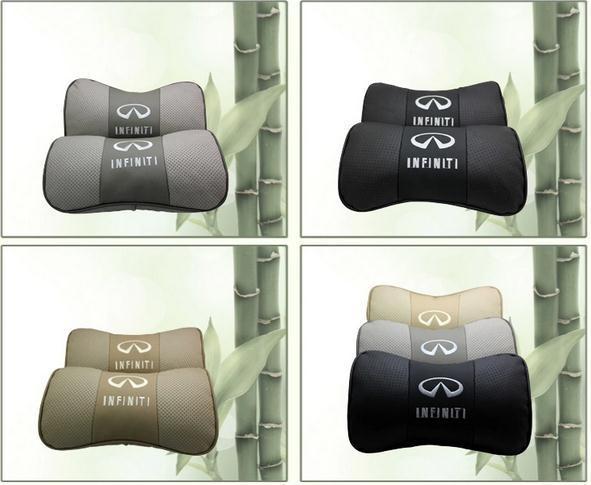 Genuine leather headrest neck pillow car rest for Infiniti G JX EX EX25 EX35 FX FX35 Q50 Q60 Q60S Q70L QX QX50 QX70 QX80(China (Mainland))