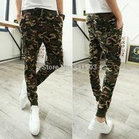 Free Shipping Korean Style 2014 New Men Jogger Pants Military  Autumn Sportswear Outdoors Trousers M-L-XL-XXL Casual Harem Pants