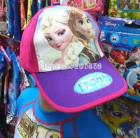Wholesale - 50 pcs Babys Frozen Anna Elsa Baseball Hats, 2 Designs free shipping