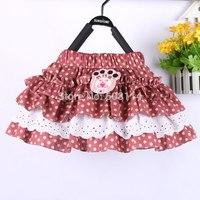 Wholesale 3pcs/lot Children Skirts Baby Girls Polka Dot Mini Skirts Lace Pleated Kids Summer Wear Atacado Roupas Infantil