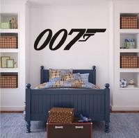 JAMES BOND 007 silhouette Decal Removable Logo WALL STICKER Home Decor Art Agent Wall Vinyl Decal Wall Sticker Size 100 cm long