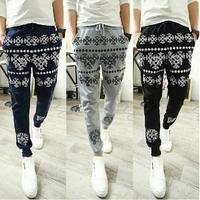 2014 Spring&summer&autumn men's harem pants sweatpants slim fit outdoors sports trousers top quality 3 colors jogger pants