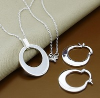 925 Jewelry Set - T094 / Free shipping 925 silver african jewelry set CIRCLE silver jewelry sets wholesale fashion jewelry