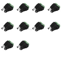 10 Pairs Male and Female 2.1mm x 5.5mm 12V DC Power Plug Jack Adapter Connector For CCTV LED