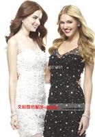 sexy short bridesmaid dresses The new 2014 black bride bridesmaid dress vestido de festa longo vestido de festa dress to party