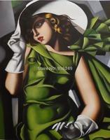 Framed Popular Tamara De Lempicka  Painting on Canvas Home Decoration 90x120cm