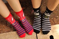 Fashion  lovers  socks 100% cottom cartoon socks free shipping