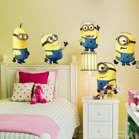 free shipping Despicable Me 2 Minion Movie Decal Removable Wall Sticker Home Decor Art Kids