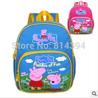 New 2014 Lovely Waterproof Peppa Pig Bag Kid Boy Girl Children's School Bags Backpacks Schoolbag Backpack Peppa Pig