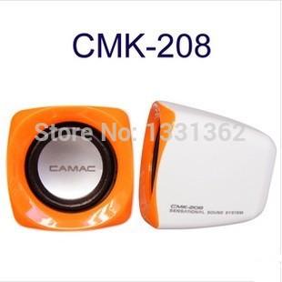 Free Shipping 2014 New Design CAMAC Sensational Sound System Speaker USB CMK-208 Multimedia Speaker Portable Stered Speaker(China (Mainland))