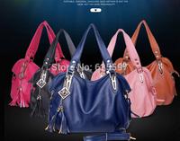 2014 free shipping Eropean and American popular recreation of single bag handbag  a variety of color