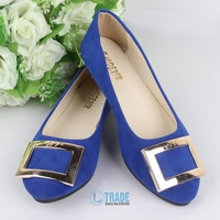 2014 new arrival Free Shipping wholesale high quality PU fashion pointed toe women fashion solid durable flat shoes H040