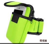 Free shipping 2014 new outdoor travel bag with arm strap purse bag phone running sports package for apple iphones S4/4S/5/5S/6